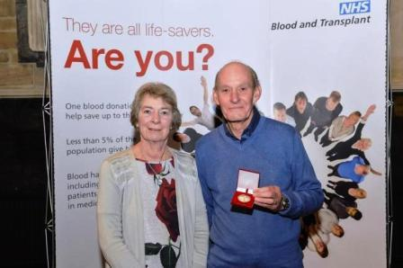 Volunteer James is recognised for his blood donations :: Blog